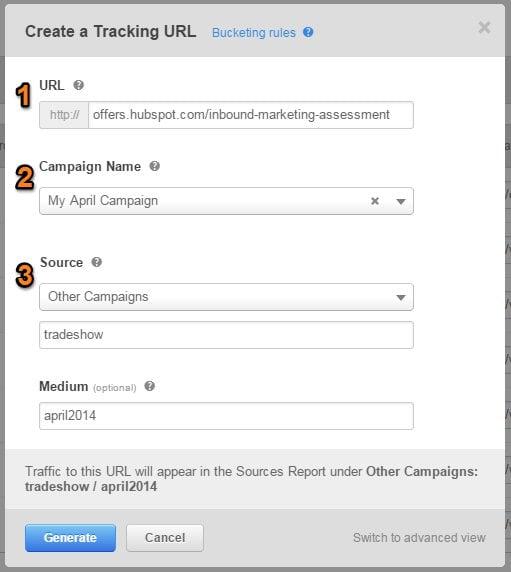 Create a tracking URL