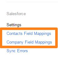 link to Contact or Company field mappings