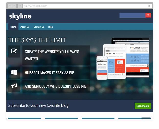 Skyline theme