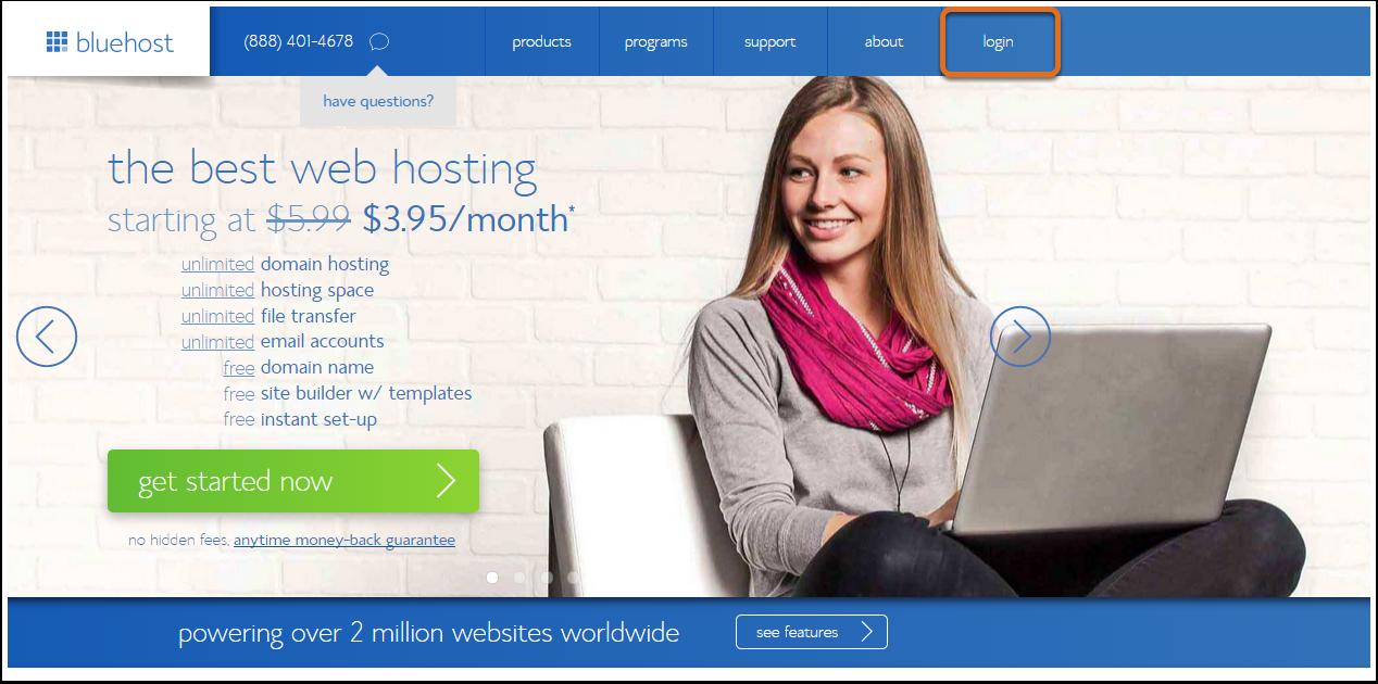 Blue-host-login