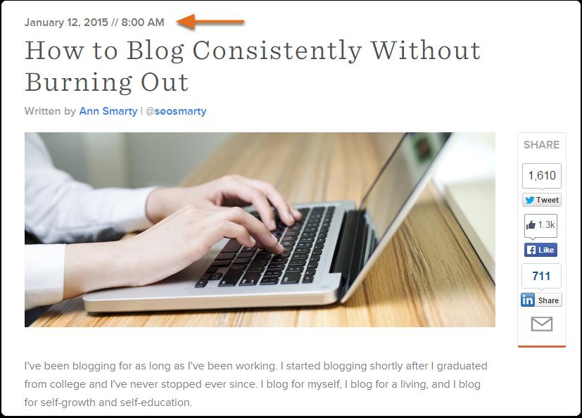 Fecha en blog