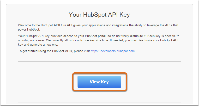 Ver clave API