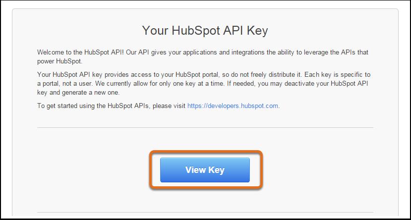 Voir la clé d'API