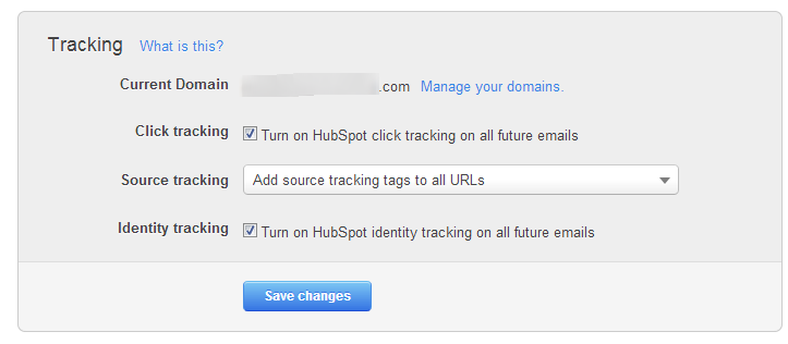 Content Settings Email Tracking