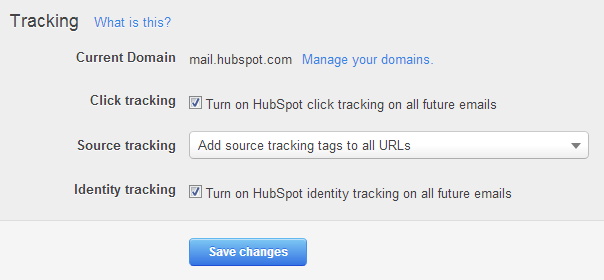 Content Settings - Email Tracking