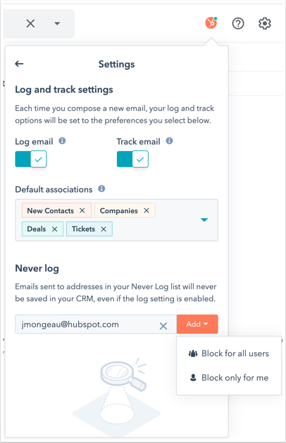 log-and-track-settings