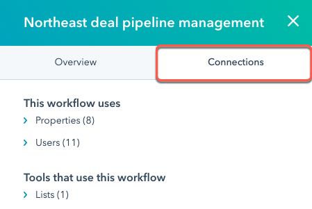 workflows-dashboard-connections-panel