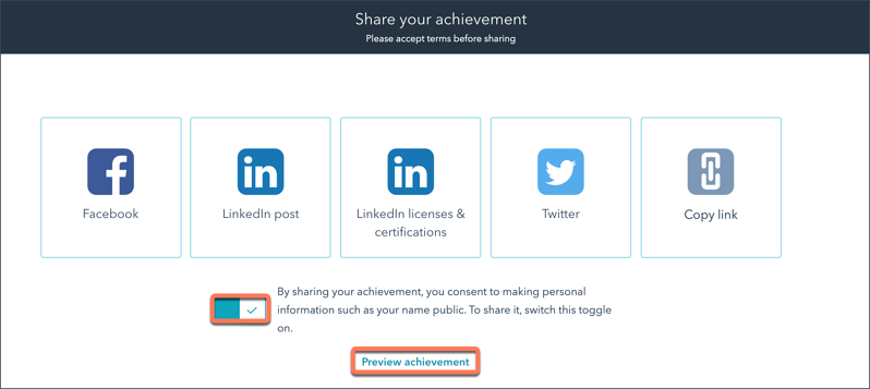 academy-certification-sharing-page