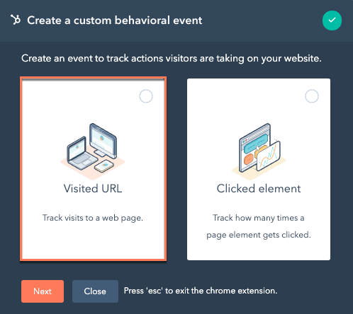 chrome-extension-create-visited-url-event