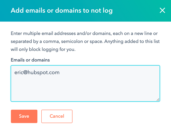 enter-emails-or-domains-to-never-log