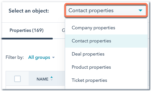 select-an-object-properties