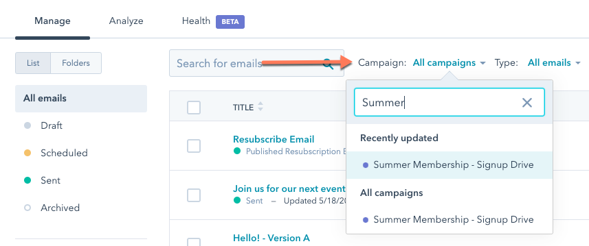 campaigns-filter-in-content-asset-dashboard