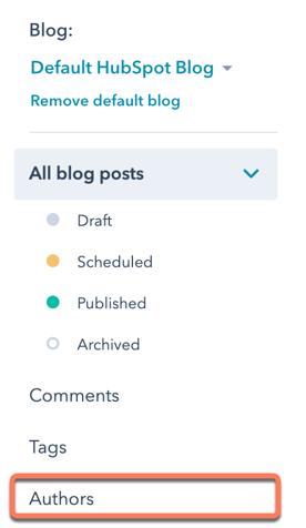 select-authors-in-left-sidebar-menu