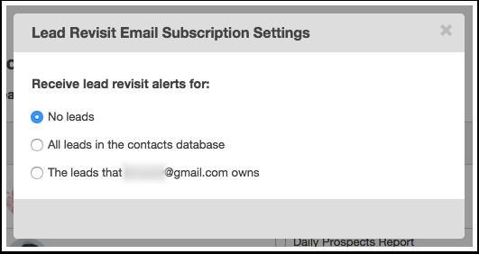 select notification type