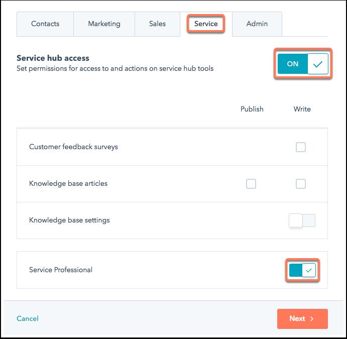 service-hub-professional-permissions