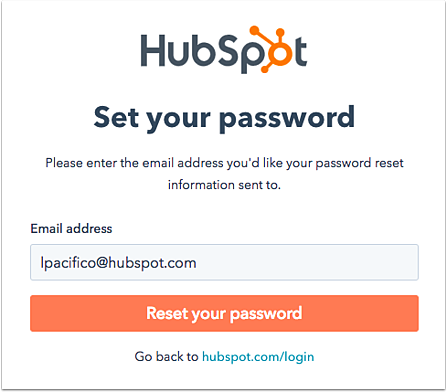 Reset user passwords