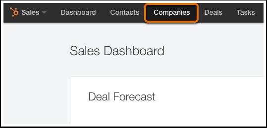 HubSpot CRM – Kontakte & Unternehmen importieren – Unternehmens-Dashboard