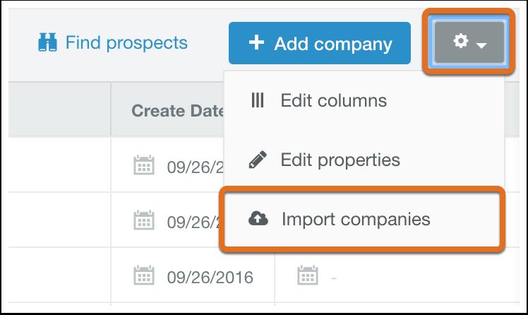 HubSpot CRM – Kontakte & Unternehmen importieren – Unternehmensdaten importieren