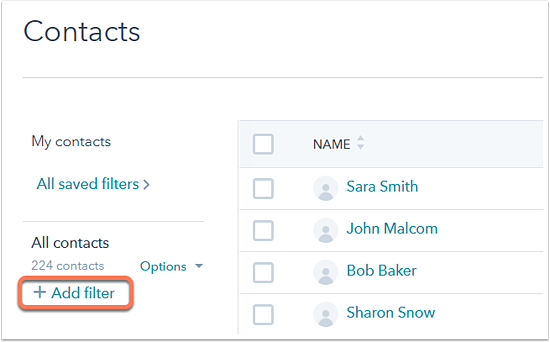 Create and customize saved filters