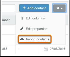 HubSpot CRM – Kontakte & Unternehmen importieren – Kontakte importieren