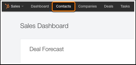 HubSpot CRM – Kontakte & Unternehmen importieren – Kontakte-Dashboard