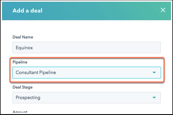 Deal-Datensätze einer Pipeline zuweisen