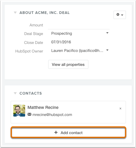 HubSpot CRM – Deals – Eigenschaften bestehender Deals bearbeiten