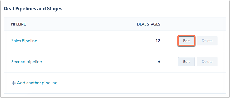 Set up and customize your deal pipelines and deal stages