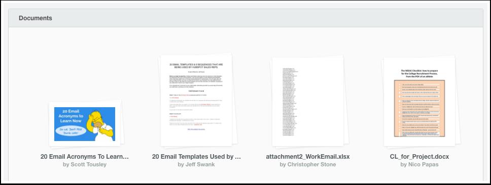 HubSpot Sales – Dokumente – Übersicht Ihrer Dokumente