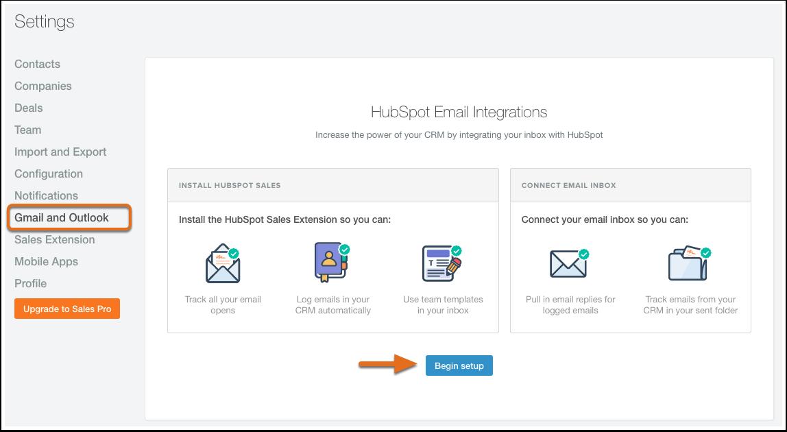 HubSpot Sales – HubSpot Sales mit Ihrem Postfach verbinden