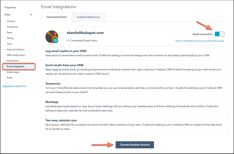 Integracion HubSpot Gmail