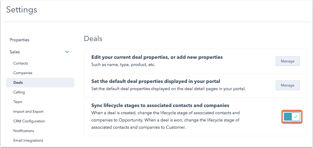 sales-settings-deals-lifecycle-stage-sync