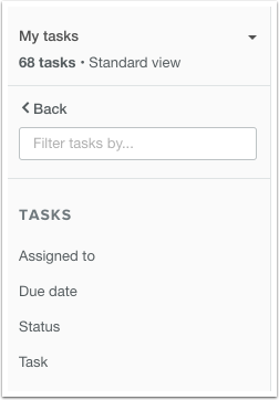 HubSpot CRM – Aufgaben – Aufgaben filtern