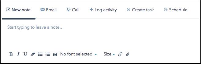 Notizfeld eines Kontaktdatensatzes