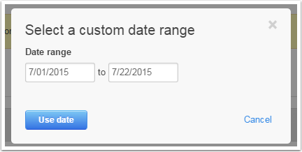 Forms Custom Date Range