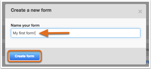 how to create a simple form
