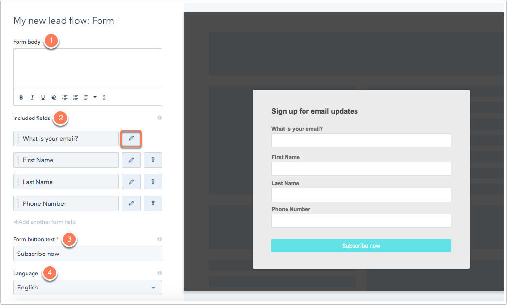 HubSpotのヘルプ記事のスクリーンショット