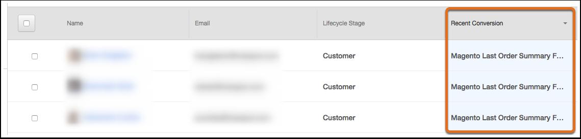 HubSpot Marketing – Kontaktdatenbank – Letzte Konversation