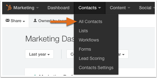 HubSpot Marketing – Kontaktdatenbank