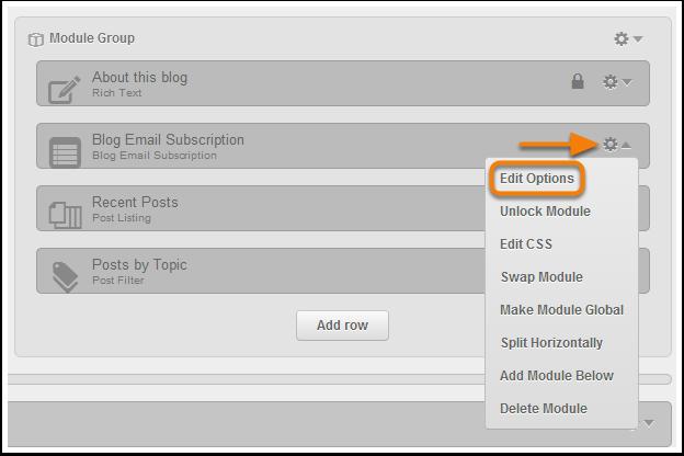 Edit options
