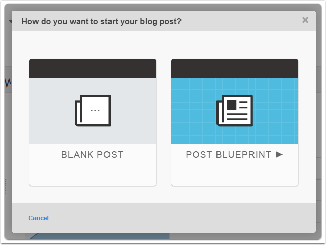 Select post type