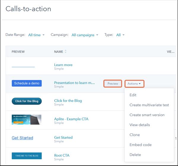 Create calls-to-action (CTA)