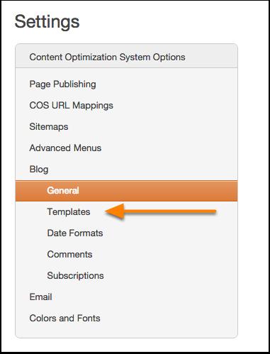 Blog templates nav