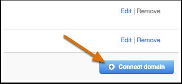 3. Cliquez sur Connecter un autre domaine HubSpot