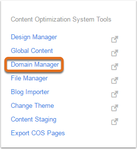 2. Select Domain Manager
