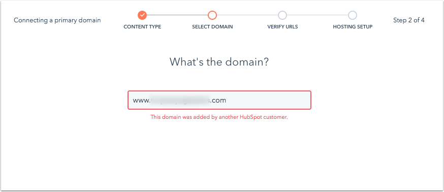 this-domain-was-added-by-another-hubspot-customer-error