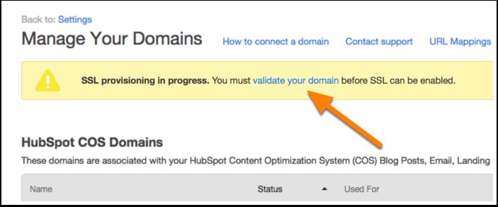 Validate domain