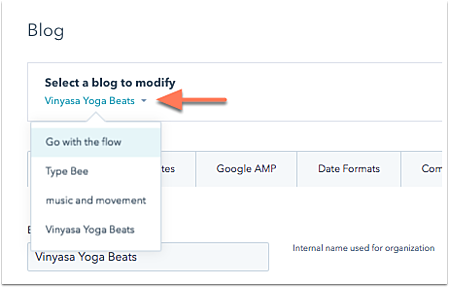 set up your blog s template options