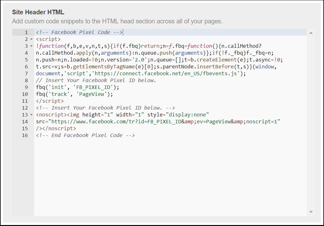 Facebook-Pixel-Code in HubSpot kopieren