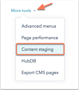Content Staging